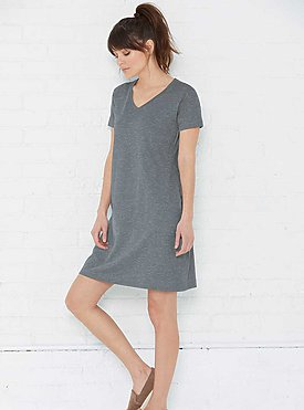LADIES V-NECK COVER-UP DRESS