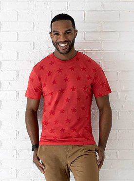 MENS FIVE STAR TEE