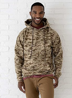 ADULT CAMO PULLOVER HOODIE