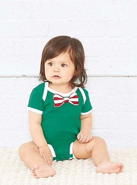 INFANT BOW TIE BODYSUIT