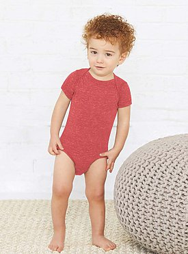 INFANT MELANGE JERSEY BODYSUIT
