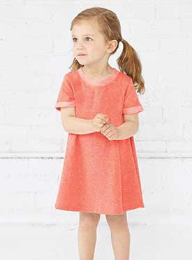 TODDLER MELANGE FR TRRY DRESS
