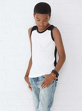 YOUTH CONTRAST BACK TANK