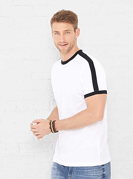 MENS RETRO RINGER TEE
