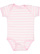 INFANT BABY RIB BODYSUIT Ballerina-White Stripe Open