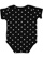INFANT BABY RIB BODYSUIT Black-White Dot Back