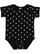 INFANT BABY RIB BODYSUIT Black-White Dot Open
