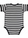 INFANT BABY RIB BODYSUIT Black-White Stripe Back