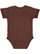 INFANT BABY RIB BODYSUIT Brown Back