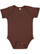 INFANT BABY RIB BODYSUIT Brown Open