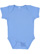 INFANT BABY RIB BODYSUIT Carolina Blue Open