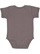 INFANT BABY RIB BODYSUIT Charcoal Back