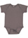 INFANT BABY RIB BODYSUIT Charcoal Open