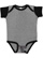 INFANT BABY RIB BODYSUIT Granite Heather/Black Open