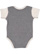 INFANT BABY RIB BODYSUIT Grnite Heather/Natural Heather Back