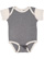 INFANT BABY RIB BODYSUIT Grnite Heather/Natural Heather Open