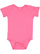 INFANT BABY RIB BODYSUIT Hot Pink Open