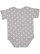 INFANT BABY RIB BODYSUIT Heather-White Dot Back