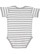 INFANT BABY RIB BODYSUIT Heather-White Stripe Back