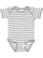 INFANT BABY RIB BODYSUIT Heather-White Stripe Open