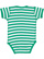 INFANT BABY RIB BODYSUIT Kelly-White Stripe Back