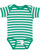INFANT BABY RIB BODYSUIT Kelly-White Stripe Open