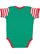 INFANT BABY RIB BODYSUIT Kelly/Red-White Stripe/Red Back