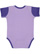 INFANT BABY RIB BODYSUIT Lavender/Purple Back