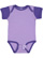 INFANT BABY RIB BODYSUIT Lavender/Purple Open