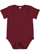 INFANT BABY RIB BODYSUIT Maroon Open