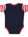 INFANT BABY RIB BODYSUIT Navy/Red-White Stripe/Red Back