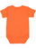 INFANT BABY RIB BODYSUIT Orange Back