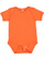 INFANT BABY RIB BODYSUIT Orange Open