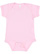 INFANT BABY RIB BODYSUIT Pink Open