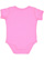INFANT BABY RIB BODYSUIT Raspberry Back