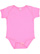 INFANT BABY RIB BODYSUIT Raspberry Open