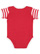 INFANT BABY RIB BODYSUIT Red/Red-White Stripe/White Back