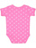 INFANT BABY RIB BODYSUIT Raspberry-White Dot Back