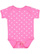 INFANT BABY RIB BODYSUIT Raspberry-White Dot Open