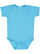 INFANT BABY RIB BODYSUIT Turquoise Open