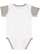 INFANT BABY RIB BODYSUIT White/Titanium Back