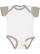 INFANT BABY RIB BODYSUIT White/Titanium Open