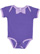INFANT BOW TIE BODYSUIT Purple/Lavender Open