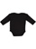 INFANT LONG SLEEVE BODYSUIT Black Back