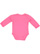 INFANT LONG SLEEVE BODYSUIT Hot Pink Back