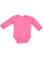 INFANT LONG SLEEVE BODYSUIT Hot Pink Open