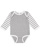 INFANT LONG SLEEVE BODYSUIT Heather/Wht/Heather-Wht Stripe