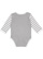 INFANT LONG SLEEVE BODYSUIT Heather/Wht/Heather-Wht Stripe Back