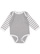INFANT LONG SLEEVE BODYSUIT Heather/Wht/Heather-Wht Stripe Open