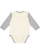 INFANT LONG SLEEVE BODYSUIT Natural/Heather Back